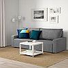 ГИММАРП 3-местный диван-кровать, Рудорна светло-серый