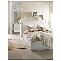 МАЛЬМ Каркас кровати+2 кроватных ящика, белый, Лонсет, 160x200 см, фото 1