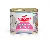 Консерва Royal Canin Mother & Babycat Ultra Soft Mousse для котят до 4 месяцев - 195 г