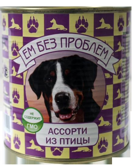 Консерва Ем без проблем для собак (Птица) - 750 г