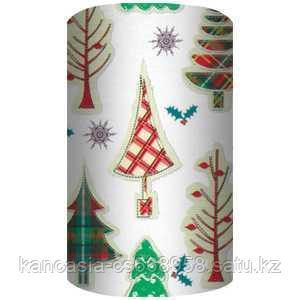 Non-branded Упаковочная бумага супергладкая, целлюлозная, повышенной плотности, Лесные деревья, 70*150 см.
