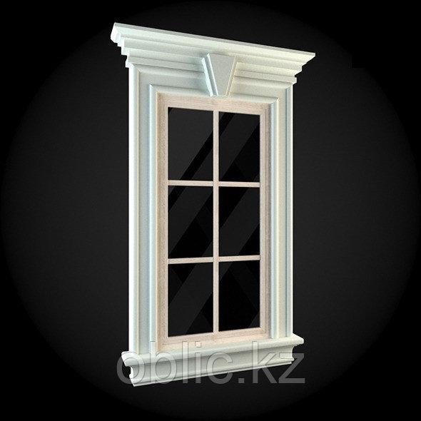 Обрамление фасадов окна №9