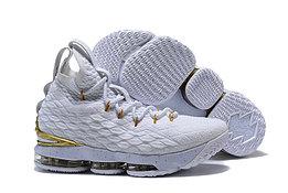 """Баскетбольные кроссовки Nike LeBron XV (15) """"White/Gold"""", 45EUR размер"""