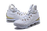 """Баскетбольные кроссовки Nike LeBron XV (15) """"White/Gold"""", 45EUR размер, фото 2"""