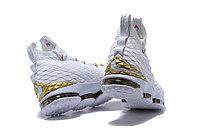 """Баскетбольные кроссовки Nike LeBron XV (15) """"White/Gold"""", 45EUR размер, фото 3"""