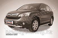 Защита переднего бампера d76+d57 двойная Honda CR-V 2007-11