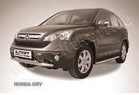 Защита переднего бампера d57+d57 двойная Honda CR-V 2007-11
