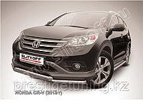 Защита переднего бампера d76+d57 двойная Honda CR-V 2012-