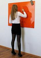 Стеклянная магнитно-маркерная доска 100*150см Askell Standart с внешним видимым креплением к стене