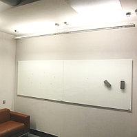 Стеклянная магнитно-маркерная доска 120*180см Askell Standart с внешним видимым креплением к стене