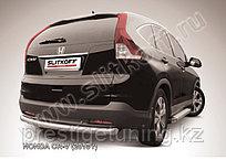 Защита заднего бампера d76 радиусная Honda CR-V 2012-