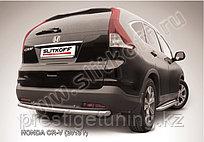 Защита заднего бампера d57 радиусная Honda CR-V 2012-