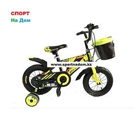 Велосипед Phoenix на 2-3 года с холостым ходом рама алюминий 12 (цвет-синий)