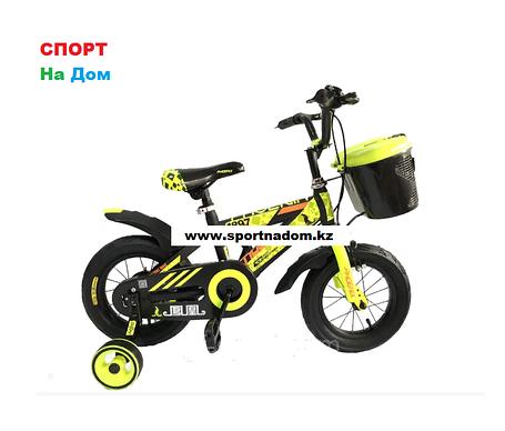 Велосипед Phoenix на 2-3 года с холостым ходом рама алюминий 12 (цвет-синий), фото 2