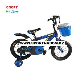 Велосипед Phoenix на 3-4 года с холостым ходом рама 14 (цвет-синий)