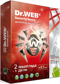Антивирус Dr. Web Security Space  SILVER, 1 ПК / 2 года