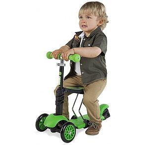 Самокат-беговел со съемным сиденьем (цвет-зеленый), фото 2