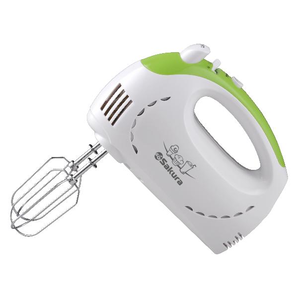 Миксер электр Sakura SA-6319GR 350Вт бел/зелен