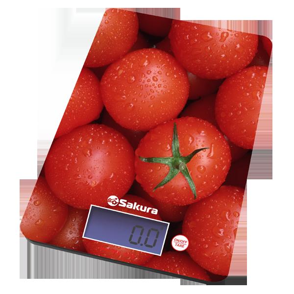 Весы кухон Sakura SA-6075Т 8кг элек томаты