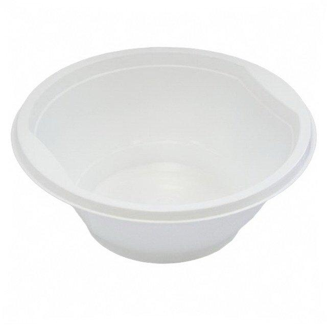 Миска д/супа, 0.6л, бел., ПП, 12 шт