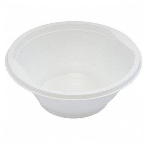 Миска д/супа, 0.6л, бел., ПП, 12 шт, фото 2