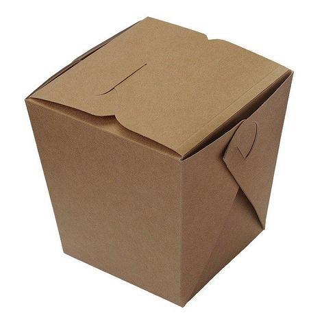 Коробка д/лапши картонная самосборная ECO NOODLES 560 мл  95х95х100мм, 500 шт, фото 2