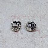 Бусина Ганеша из серебра, 11*10мм, фото 3