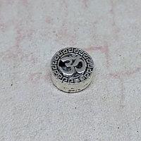 Бусина Ом из серебра, 10*4мм