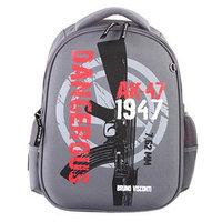 Рюкзак каркасный Bruno Visconti 38 х 30 х 20 см, 'Милитари 7,62 мм', серый