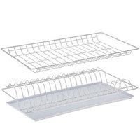 Комплект посудосушителей с поддоном 46,5x25,6 см, для шкафа 50 см, цвет белый