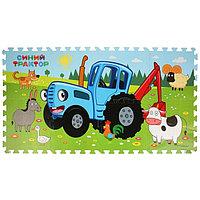 Коврик-пазл «Синий трактор», 8 элементов, 31,5х31,5 см