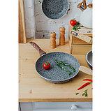 Сковорода 26 см Mountain Grey, антипригарное гранитное покрытие, ручка soft-touch, индукционное дно, фото 9