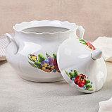 Набор для пельменей «Фиалка», 7 предметов: ваза 3 л, миски 17,5 см, фото 3