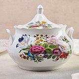Набор для пельменей «Букет цветов», 7 предметов: ваза для супа 3 л, 6 мисок 600 мл, фото 2
