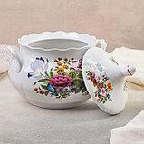 Набор для пельменей «Букет цветов», 7 предметов: ваза для супа 3 л, 6 мисок 600 мл, фото 3