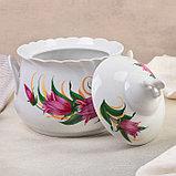 Набор для пельменей «Колокольчики», 7 предметов: ваза для супа 2,2 л, 6 мисок 600 мл, фото 3