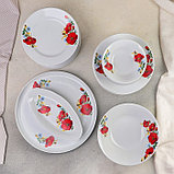 Сервиз столовый «Маки красные», 37 предметов, 2 вида тарелок, фото 2