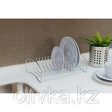 Сушилка для посуды Доляна, 28,5×20×10 см, хром