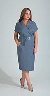 Платье Диамант-1524/1, голубой, 52