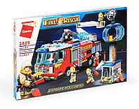 """Конструктор Brick 2809 """"Пожарная машина"""" 647 деталей, фото 1"""