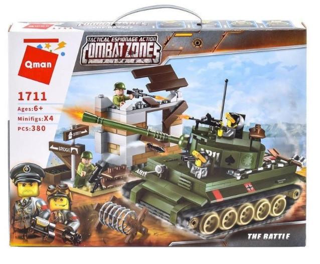 "Конструктор Brick/Qman 1711 ""Атака танка"", 380 деталей"