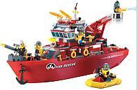 """Конструктор Brick 909 """"Пожарно-спасательный катер"""" 361 деталь, фото 1"""