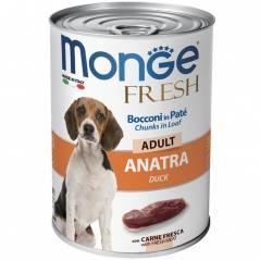 Паштет Monge Fresh для взрослых собак (Кусочки утки) - 100 г