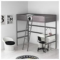 ТУФФИНГ Каркас кровати-чердака, темно-серый, 90x200 см, фото 1