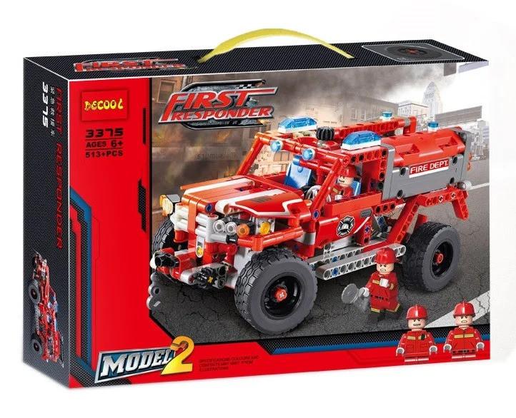 """Детский конструктор 2 в 1 Decool 3375 """"Служба быстрого реагирования"""" (аналог Lego Technic 42075), 513 деталей"""
