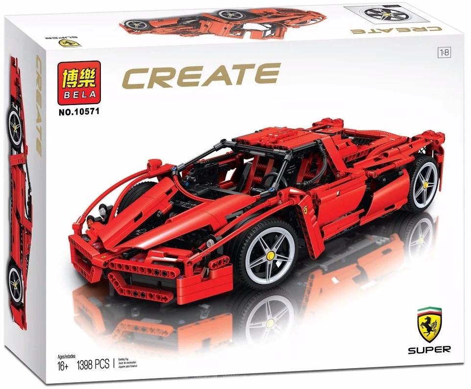 "Конструктор Bela 10571 Create (аналог Lego 8653) ""Enzo Ferrari (Энцо Феррари)"" 1398 деталей"