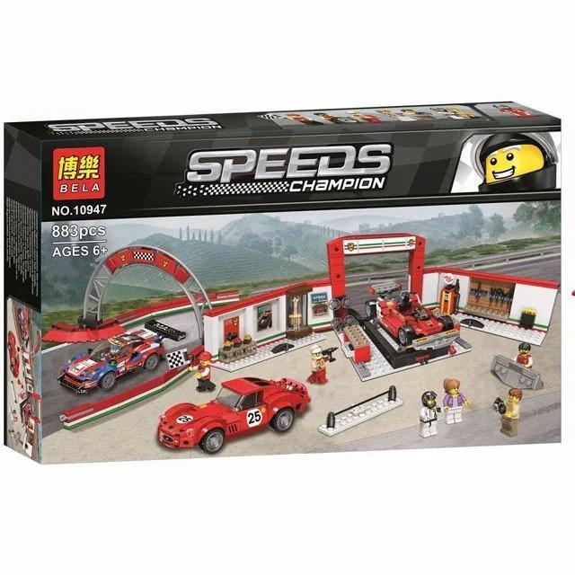 "Конструктор Bela 10947 ""Гараж Ferrari"" (аналог Lego Speed ??Champions 75889), 883 деталей"