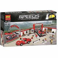 "Конструктор Bela 10947 ""Гараж Ferrari"" (аналог Lego Speed ??Champions 75889), 883 деталей, фото 1"