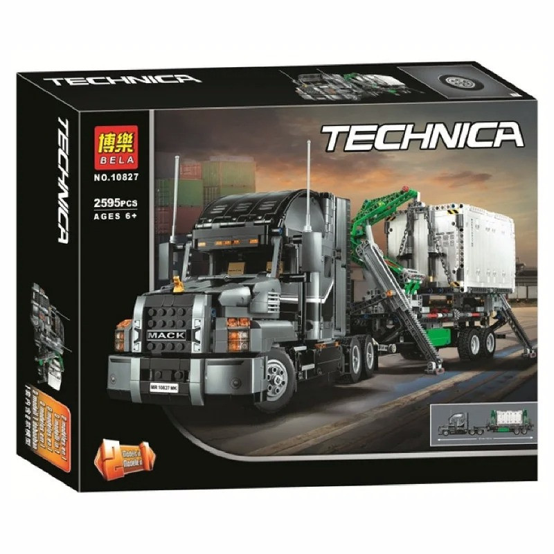 "Конструктор Bela 10827 ""Грузовик MACK Anthem"" (аналог Lego Technic 42078), 2595 деталей"