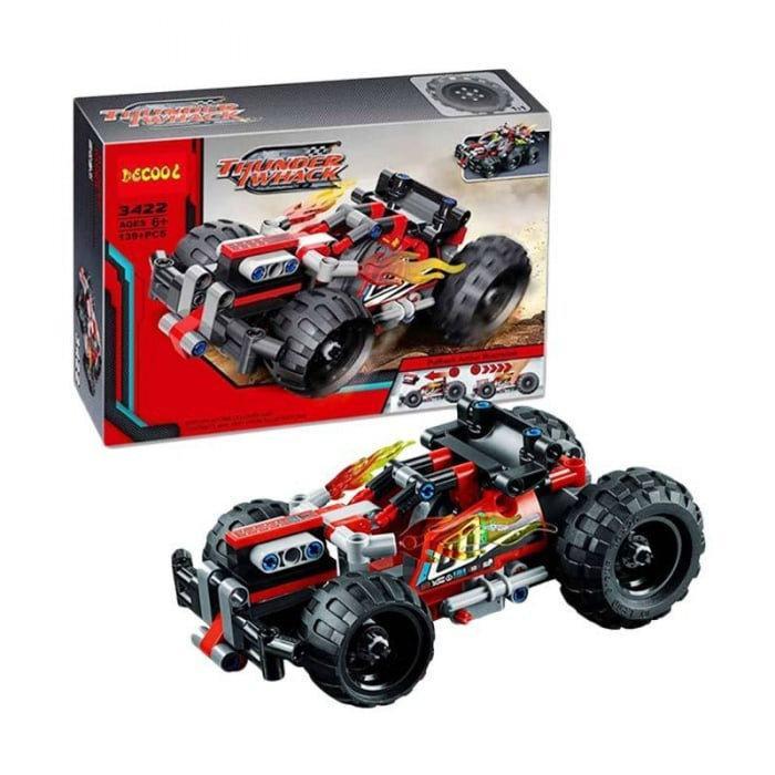 """Конструктор Decool 3422 (Аналог Lego Technic 42073) """"Красный гоночный автомобиль"""" 139 деталей"""